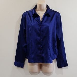 No boundaries women's large Royal blue blouse